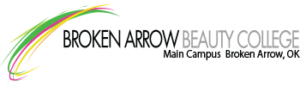 broken arrow beauty college logo