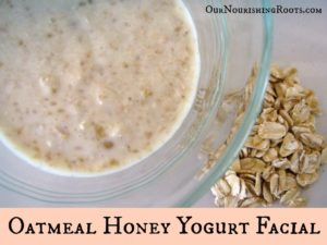 oatmeal honey yogurt facial