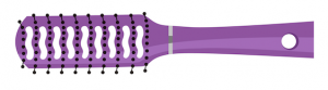 Purple illustrated ventilated hair brush
