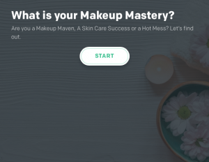 Graphic of start of What is your Makeup Mastery quiz