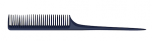 Dark blue illustration of a rattail hair comb