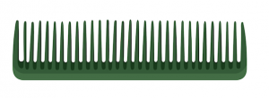 Green animated wide tooth comb