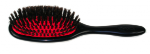Black natural bristle brush