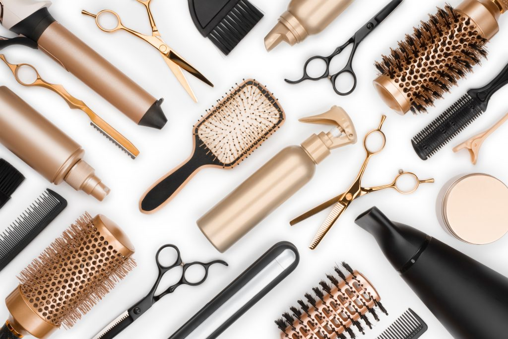 gold and black hairdresser tools